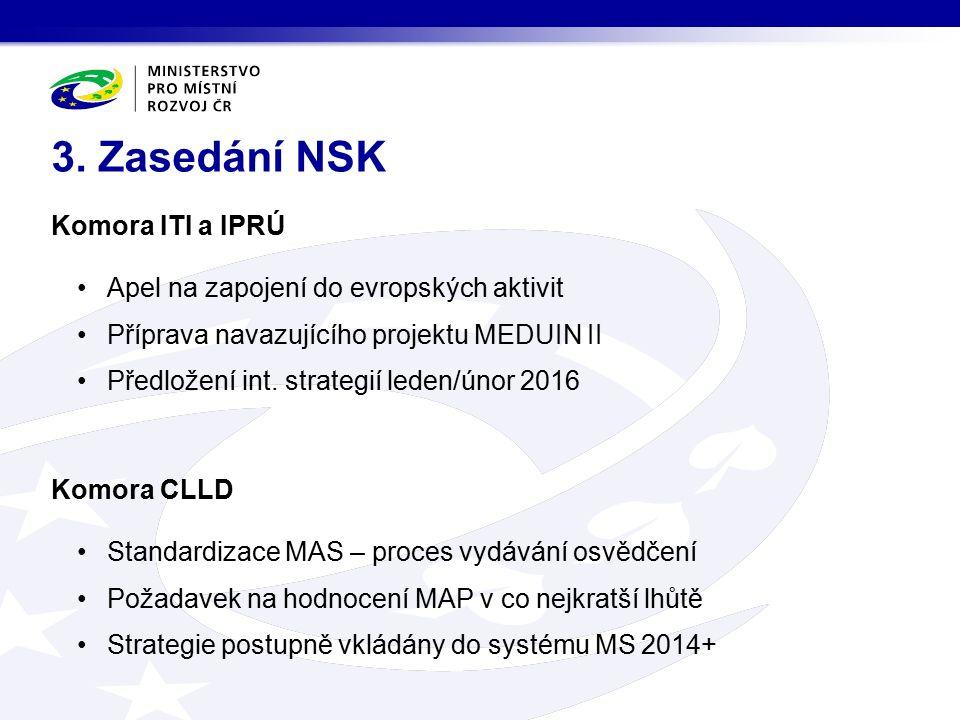 Komora ITI a IPRÚ Apel na zapojení do evropských aktivit Příprava navazujícího projektu MEDUIN II Předložení int. strategií leden/únor 2016 Komora CLL
