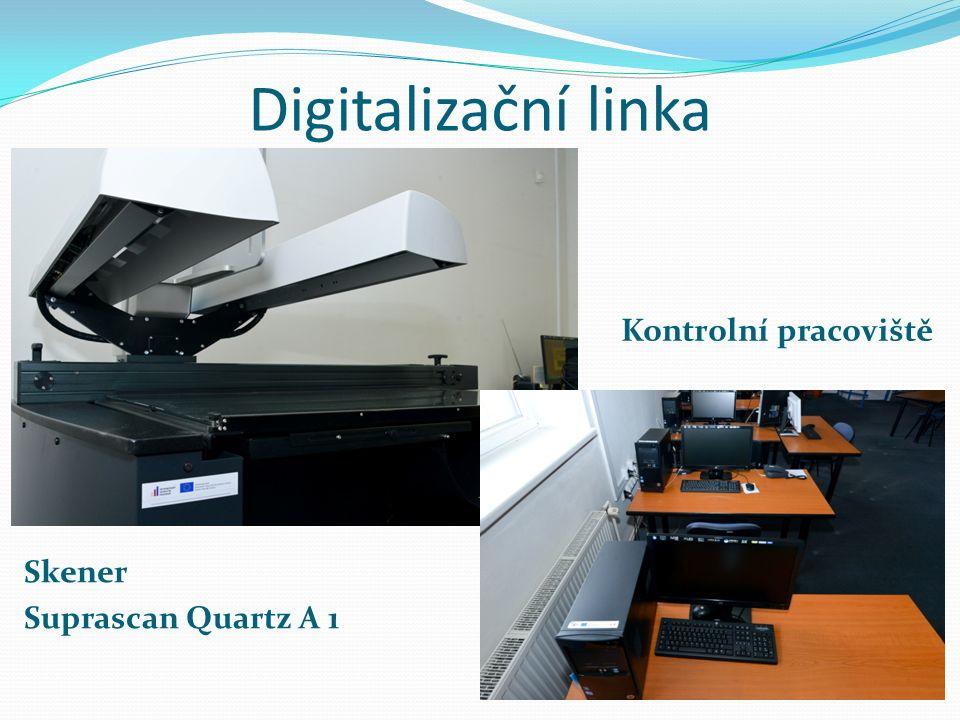 Digitalizační linka Skener Suprascan Quartz A 1 Kontrolní pracoviště