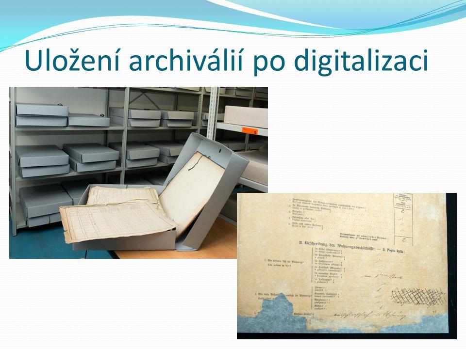 Uložení archiválií po digitalizaci