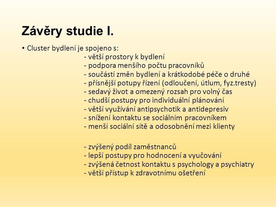 Závěry studie I.
