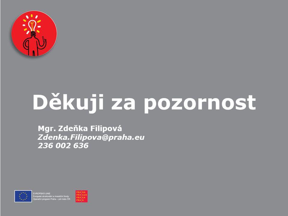 Děkuji za pozornost Mgr. Zdeňka Filipová Zdenka.Filipova@praha.eu 236 002 636