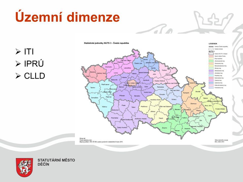 Územní dimenze  ITI  IPRÚ  CLLD