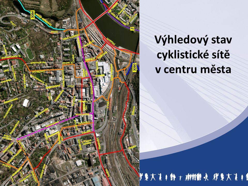 Výhledový stav cyklistické sítě v centru města