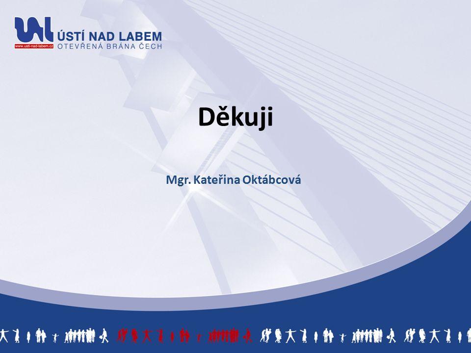 Děkuji Mgr. Kateřina Oktábcová