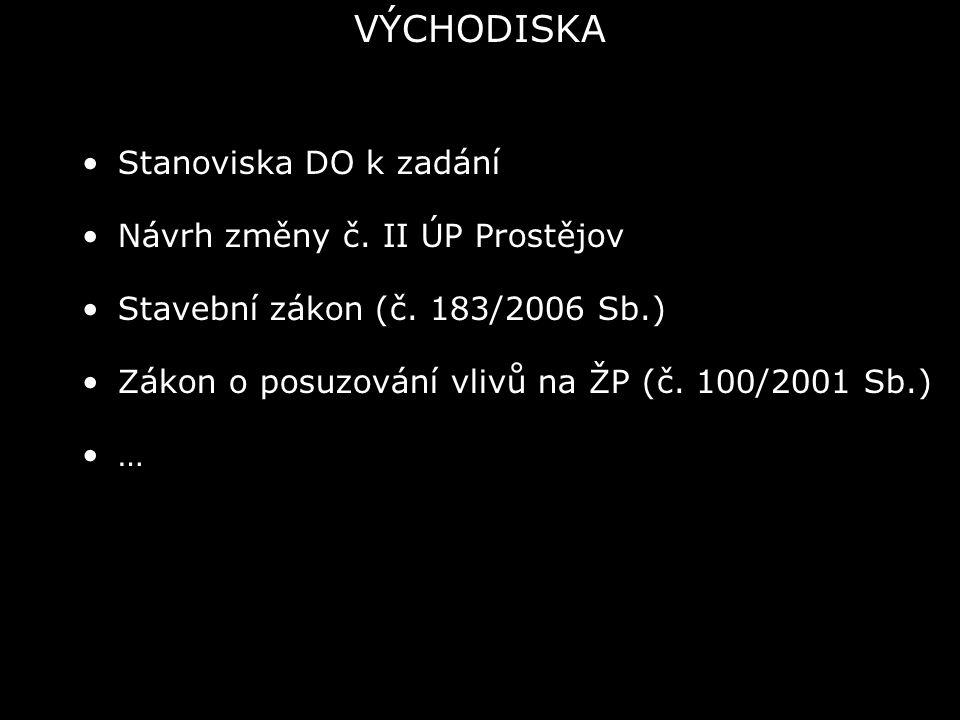 Stanoviska DO k zadání Návrh změny č. II ÚP Prostějov Stavební zákon (č.