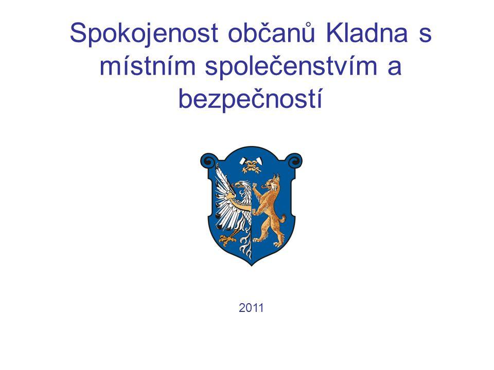 Spokojenost občanů Kladna s místním společenstvím a bezpečností 2011