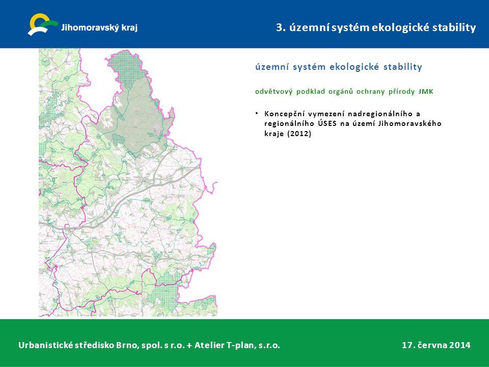 Urbanistické středisko Brno, spol. s r.o. + Atelier T-plan, s.r.o.17. června 2014 3. územní systém ekologické stability územní systém ekologické stabi