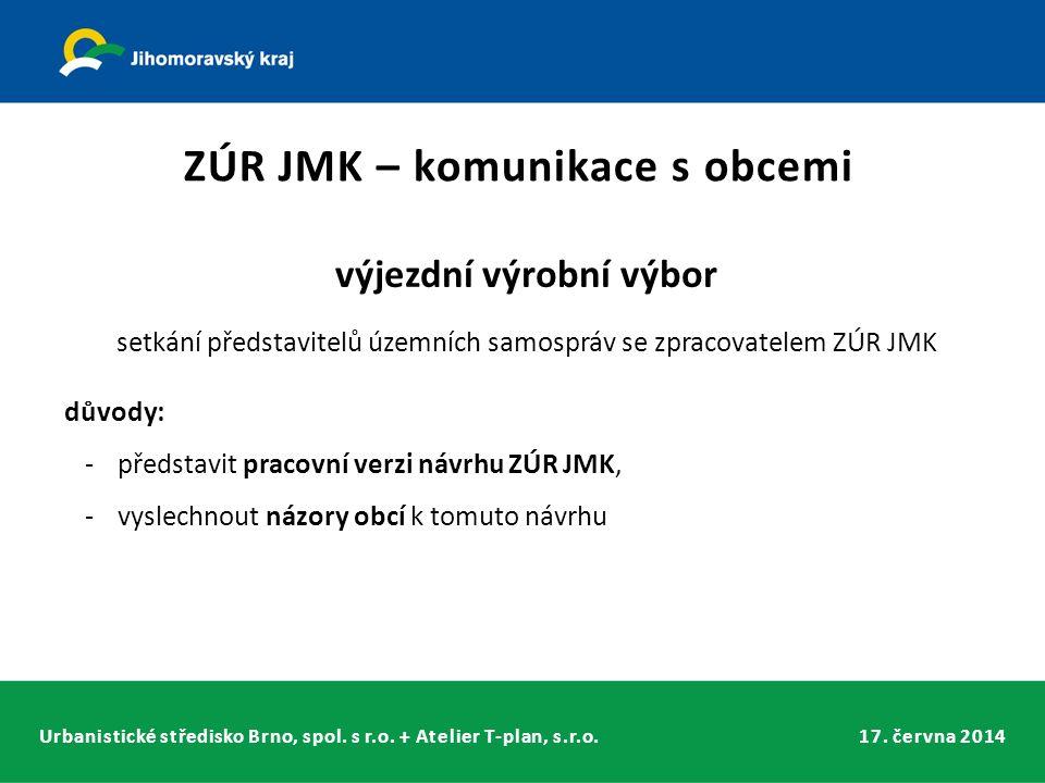 Urbanistické středisko Brno, spol. s r.o. + Atelier T-plan, s.r.o.17. června 2014 výjezdní výrobní výbor setkání představitelů územních samospráv se z