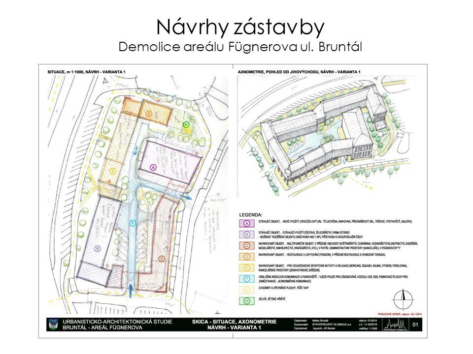 Návrhy zástavby Demolice areálu Fügnerova ul. Bruntál