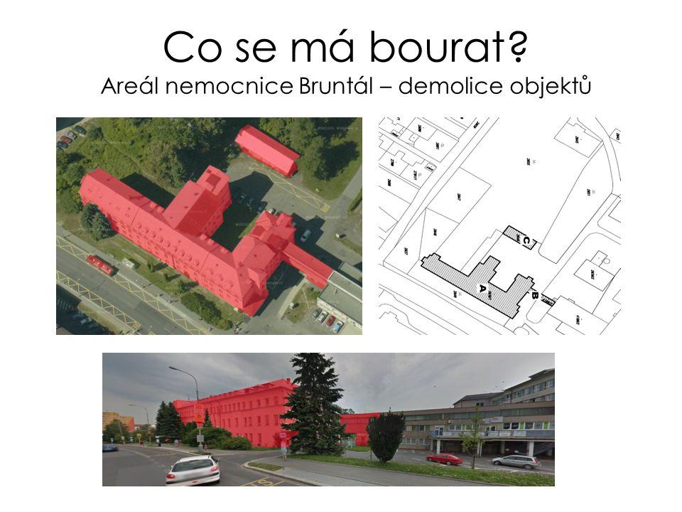 Co se má bourat Areál nemocnice Bruntál – demolice objektů