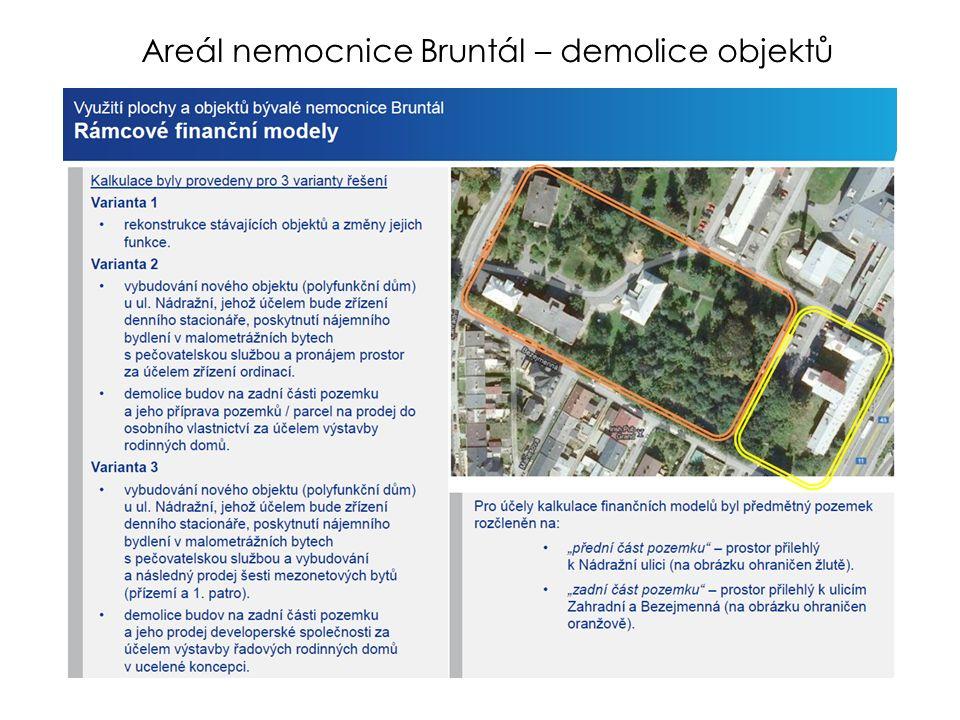 Areál nemocnice Bruntál – demolice objektů