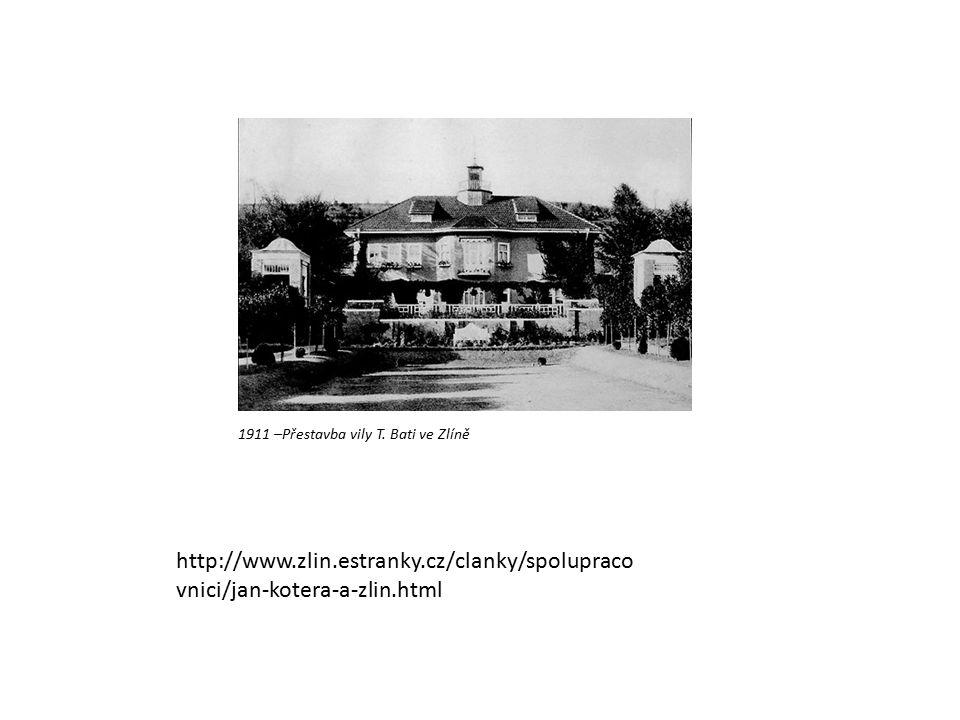 1911 –Přestavba vily T.