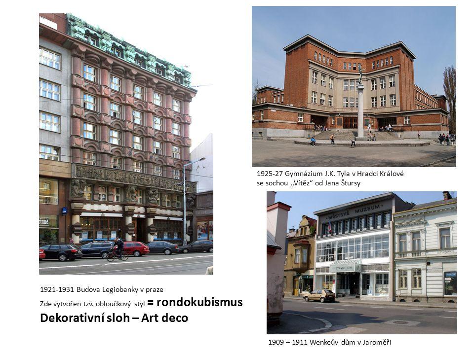 1921-1931 Budova Legiobanky v praze Zde vytvořen tzv.