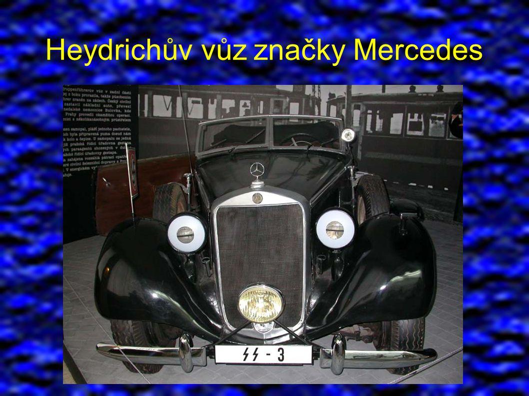 Heydrichův vůz značky Mercedes