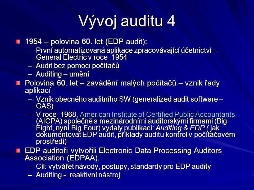 Vývoj auditu 4 1954 – polovina 60.