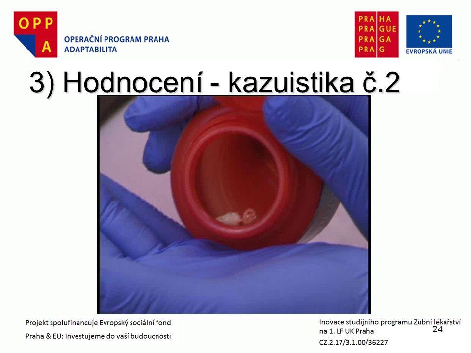 3) Hodnocení - kazuistika č.2 24