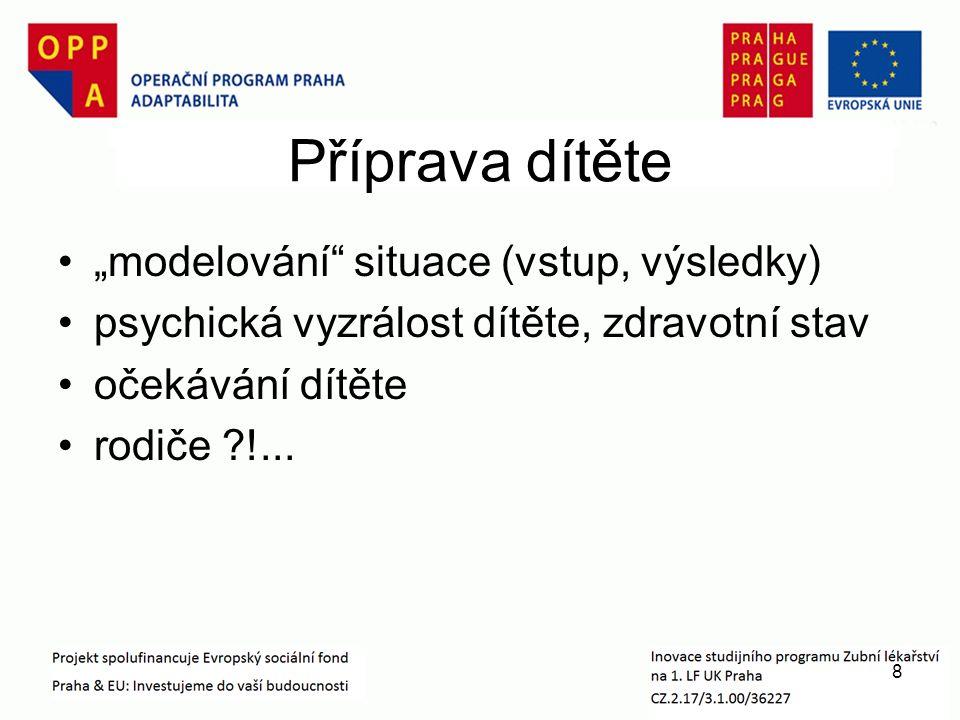 """Příprava dítěte """"modelování situace (vstup, výsledky) psychická vyzrálost dítěte, zdravotní stav očekávání dítěte rodiče !..."""