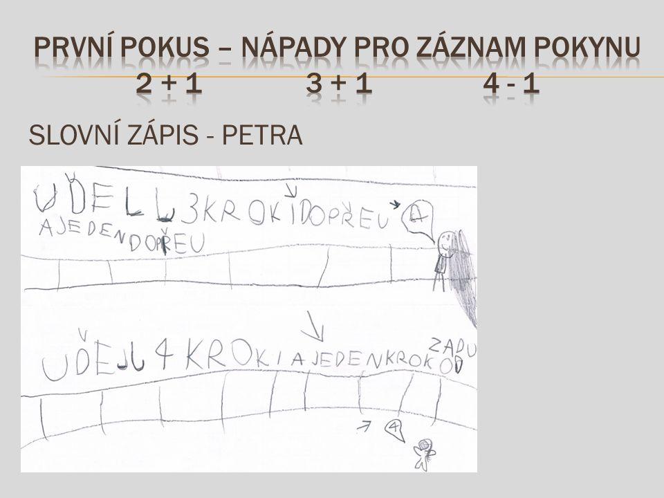 SLOVNÍ ZÁPIS - PETRA