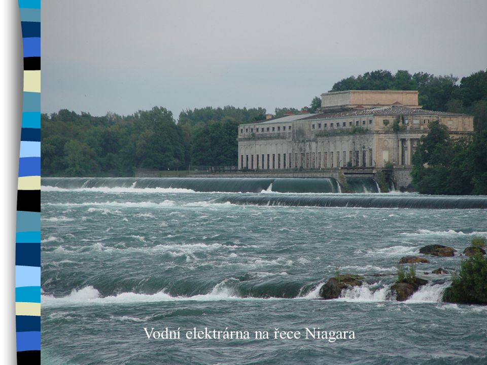 Vodní elektrárna na řece Niagara