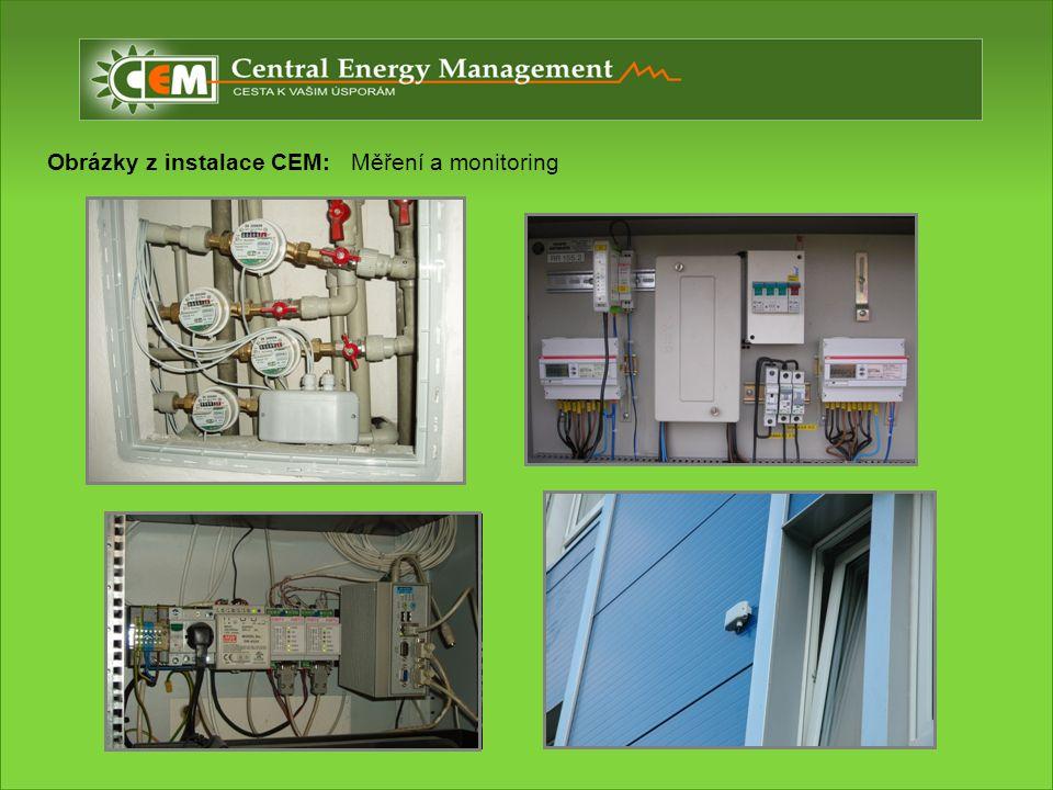 Obrázky z instalace CEM: Měření a monitoring
