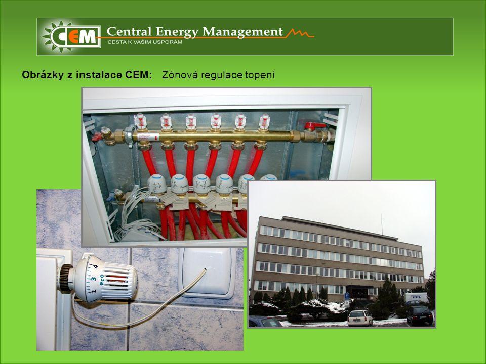 Obrázky z instalace CEM: Zónová regulace topení