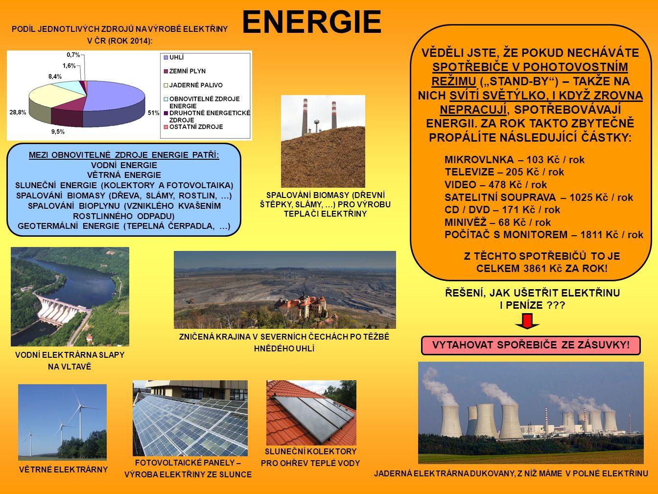 """ENERGIE VĚDĚLI JSTE, ŽE POKUD NECHÁVÁTE SPOTŘEBIČE V POHOTOVOSTNÍM REŽIMU (""""STAND-BY ) – TAKŽE NA NICH SVÍTÍ SVĚTÝLKO, I KDYŽ ZROVNA NEPRACUJÍ, SPOTŘEBOVÁVAJÍ ENERGII."""