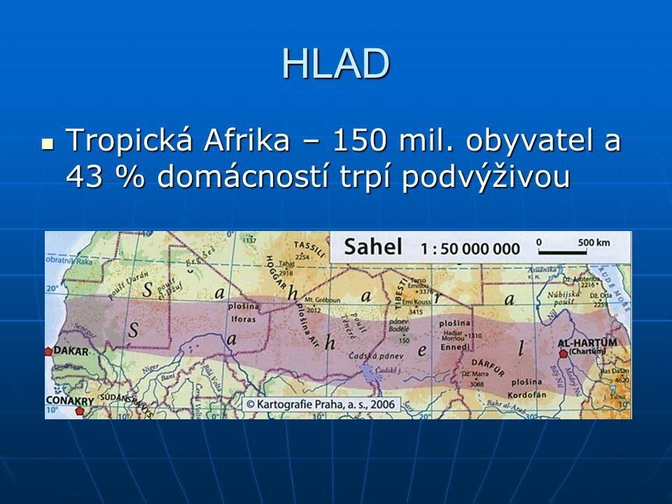 HLAD Tropická Afrika – 150 mil.