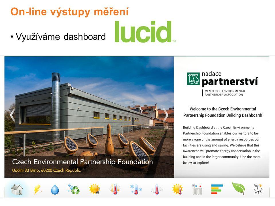 On-line výstupy měření Využíváme dashboard LUCID