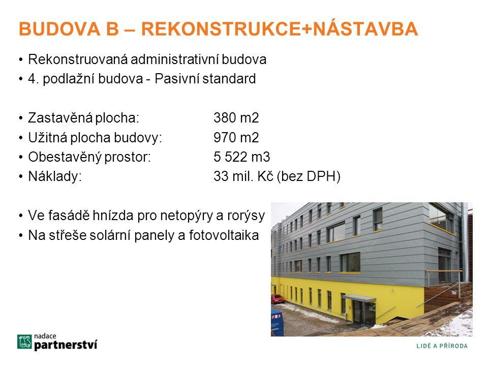 BUDOVA B – REKONSTRUKCE+NÁSTAVBA Rekonstruovaná administrativní budova 4.