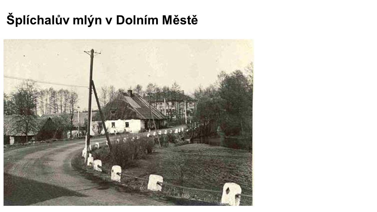 Šplíchalův mlýn v Dolním Městě