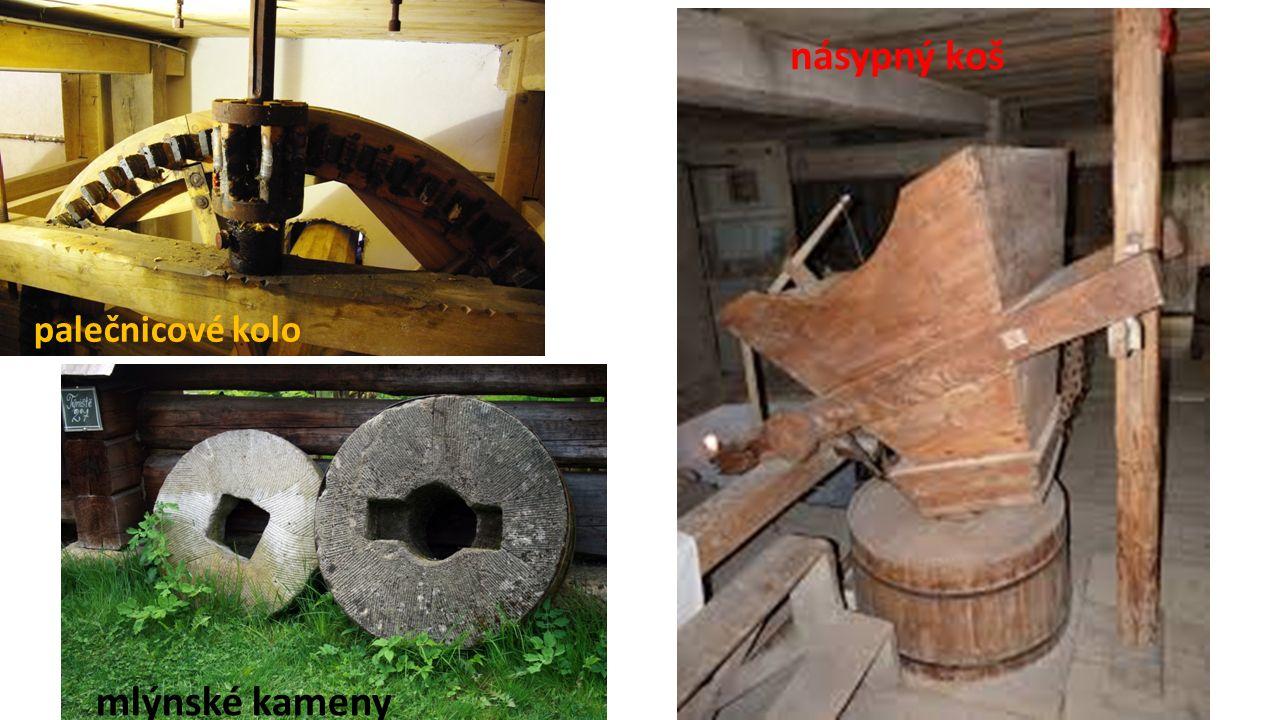 palečnicové kolo násypný koš mlýnské kameny