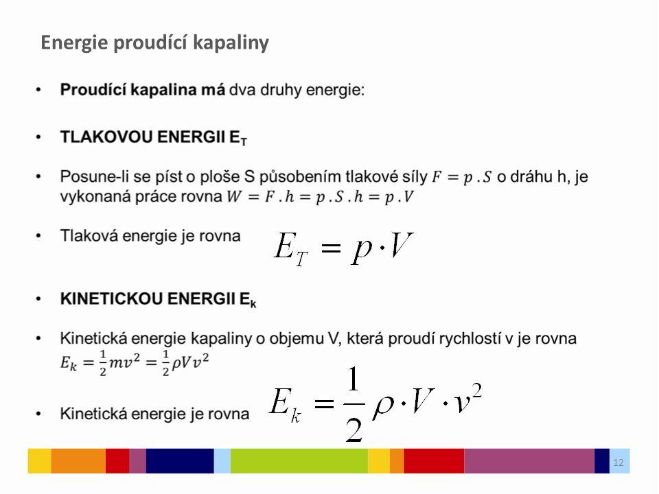 Energie proudící kapaliny 12
