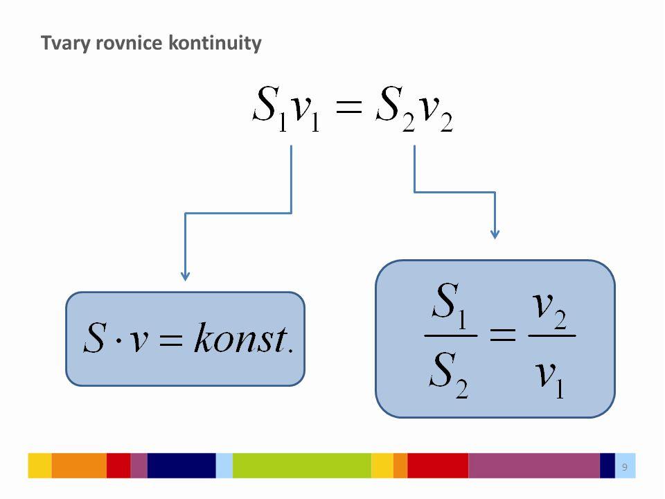Tvary rovnice kontinuity 9