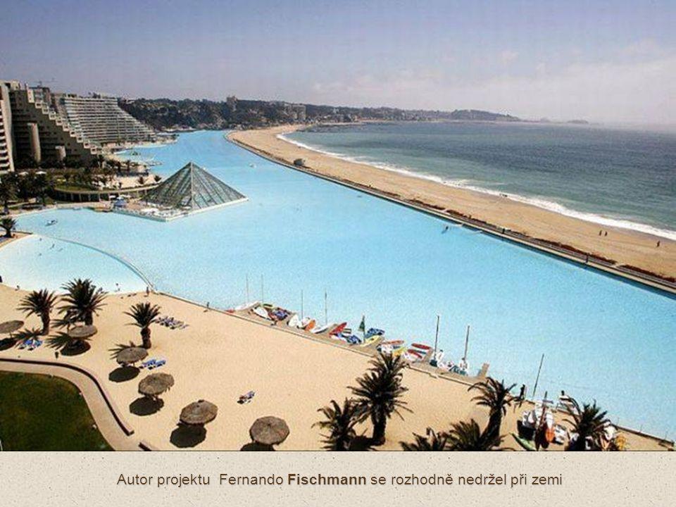 Senzory měřící množství bakterií a pH vody jsou umístěny na každých deseti čtverečních metrech bazénu.