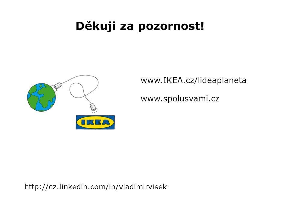 Děkuji za pozornost www.IKEA.cz/lideaplaneta www.spolusvami.cz Děkuji za pozornost.