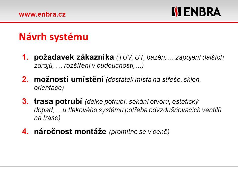 www.enbra.cz ROTEX Heat distribution Návrh systému 1.požadavek zákazníka (TUV, UT, bazén,... zapojení dalších zdrojů, … rozšíření v budoucnosti,…) 2.m