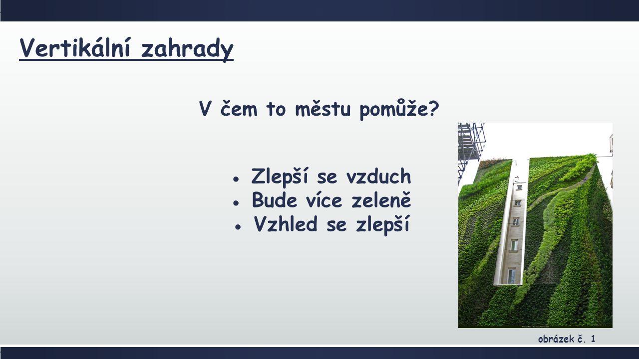 Vertikální zahrady V čem to městu pomůže.