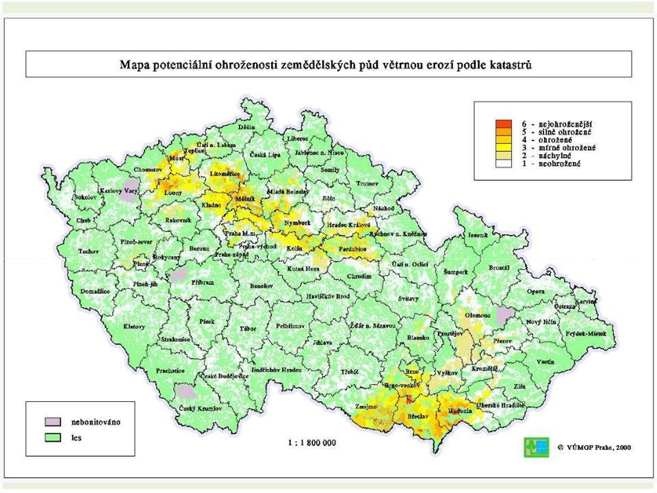 Faktory ovlivňující větrnou erozi Klimatické Půdní Porostní Územní