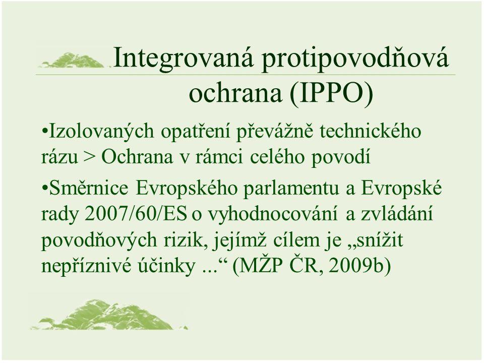 Integrovaná protipovodňová ochrana (IPPO) Izolovaných opatření převážně technického rázu > Ochrana v rámci celého povodí Směrnice Evropského parlament