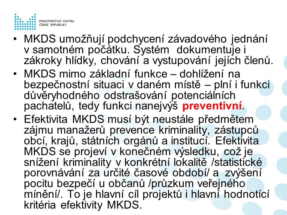 MKDS umožňují podchycení závadového jednání v samotném počátku.