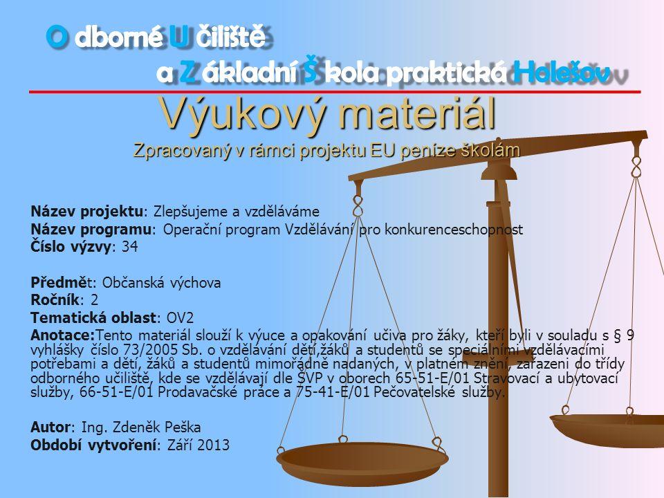 Práva a povinnosti zaměstnance a zaměstnavatele
