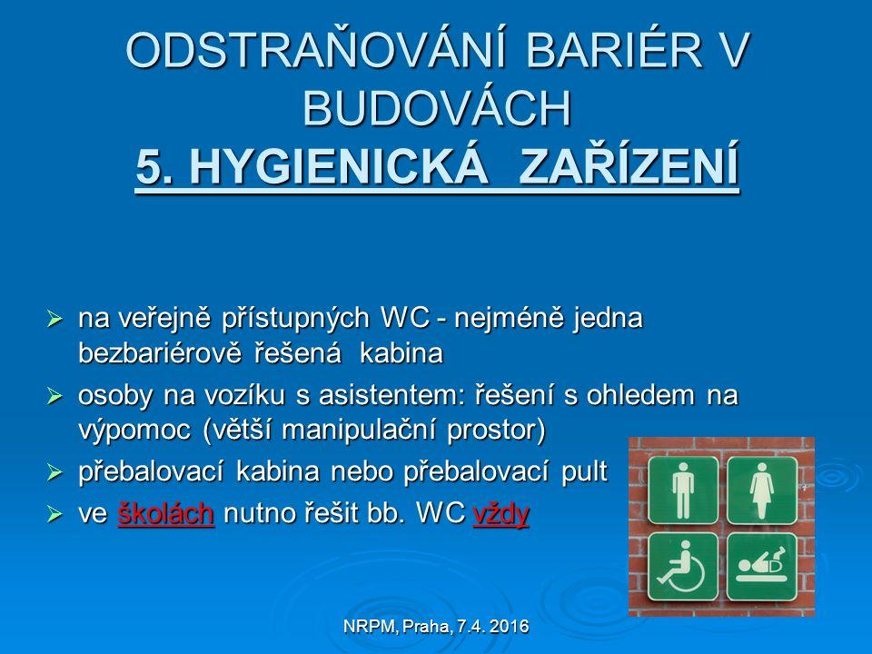 NRPM, Praha, 7.4. 2016 ODSTRAŇOVÁNÍ BARIÉR V BUDOVÁCH 5.