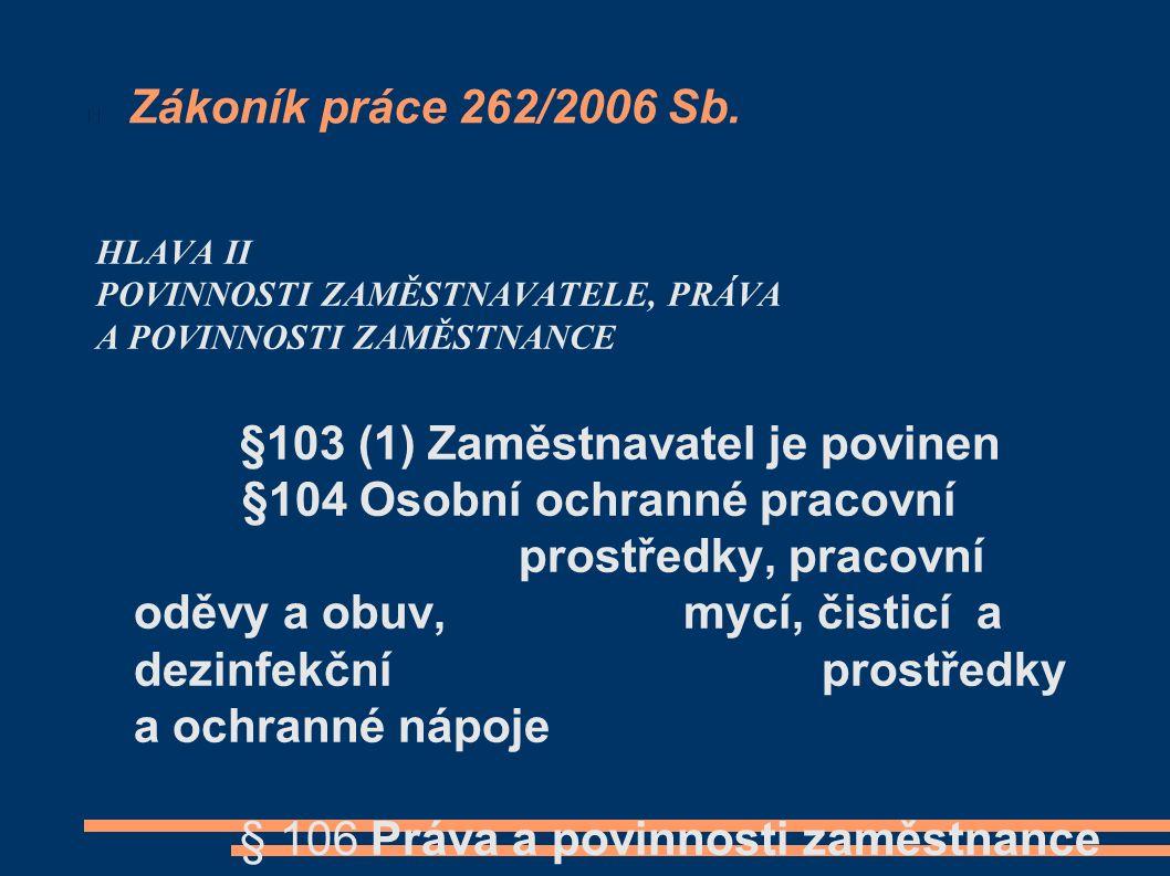 Zákoník práce 262/2006 Sb.