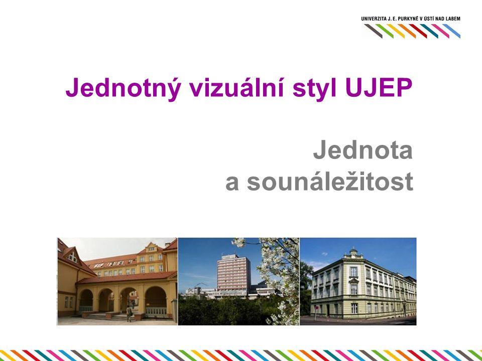 Jednotný vizuální styl UJEP Jednota a sounáležitost