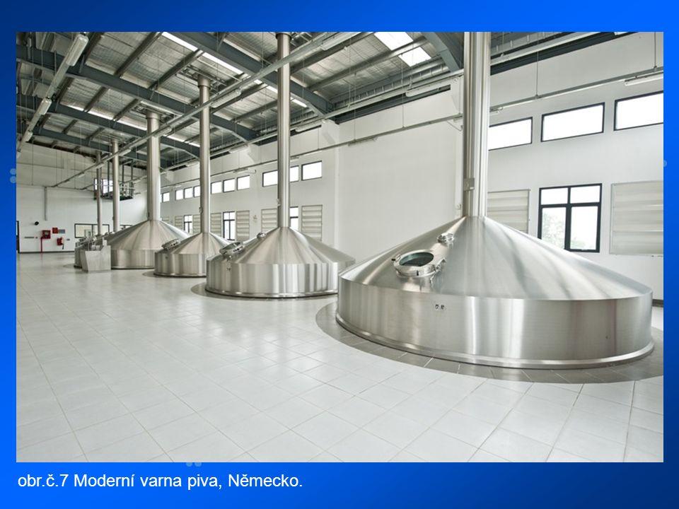 obr.č.7 Moderní varna piva, Německo.