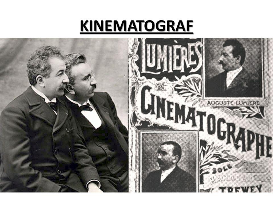KINEMATOGRAF Kinematograf je zastaralý výraz pro původní konstrukci prvních filmových promítaček.