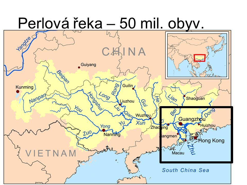Perlová řeka – 50 mil. obyv.