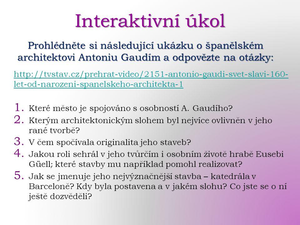 http://tvstav.cz/prehrat-video/2151-antonio-gaudi-svet-slavi-160- let-od-narozeni-spanelskeho-architekta-1 1.