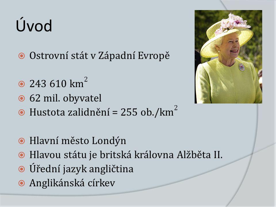 Úvod  Ostrovní stát v Západní Evropě  243 610 km 2  62 mil.