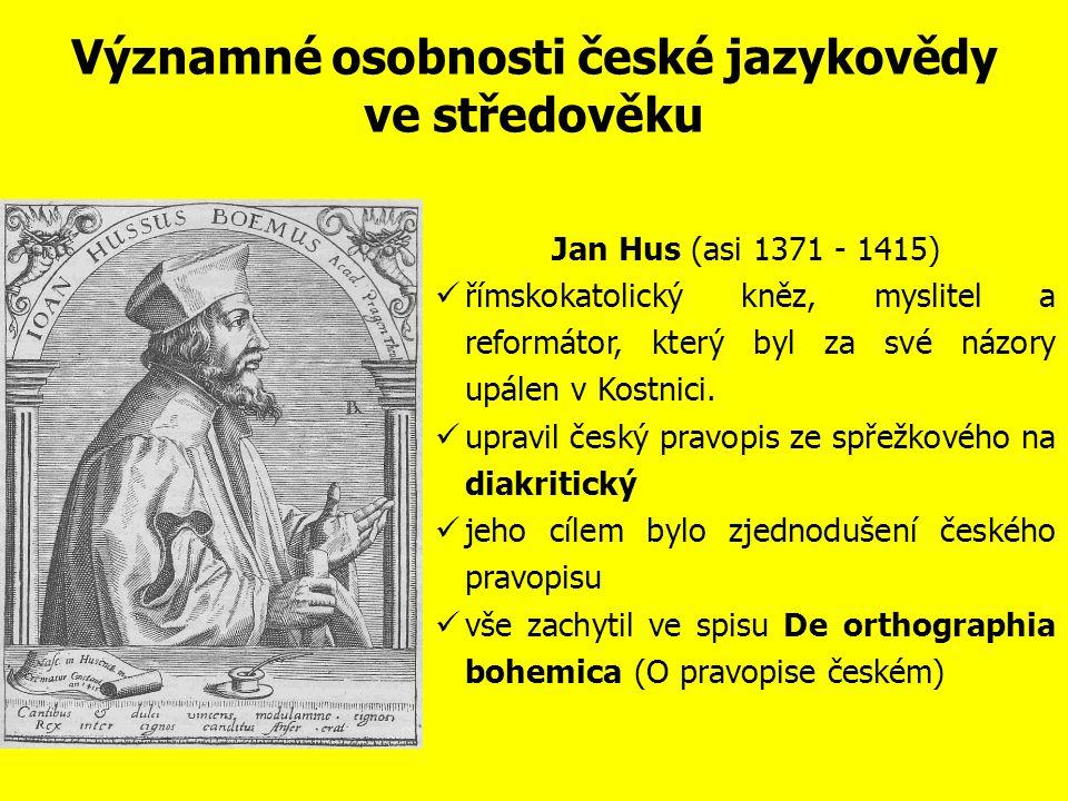 Významné osobnosti české jazykovědy ve středověku 14.